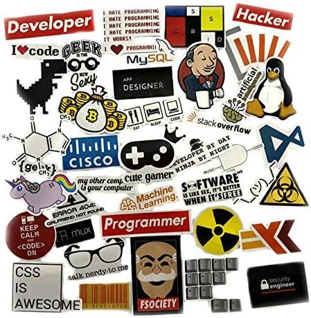 GMADD Pegatinas de programación Geek Hacker Bitcoin Developer ...