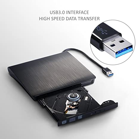 Disco Duro Externo de DVD USB 3.0, Ultra Slim portátil DVD VCD CD ...