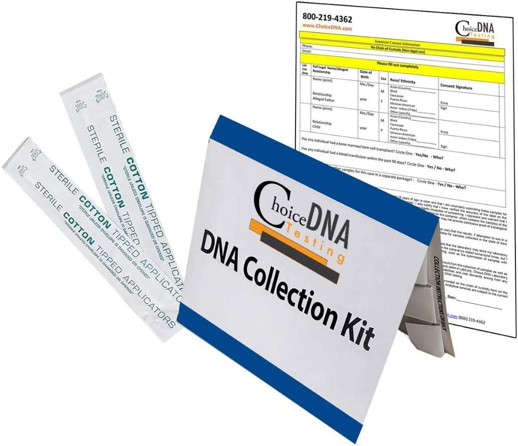 Paternity DNA Test Kit (at Home - for Personal Purposes Only) – Free Return Shipping to Lab, All Lab Fees Included - Results in 2 Business Days