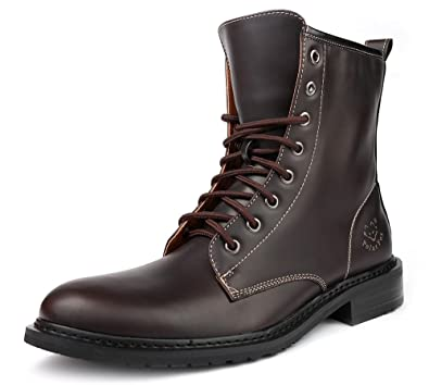 Amazon.com | Men Fashion High Top Ankle Boot Military Style Lace ...