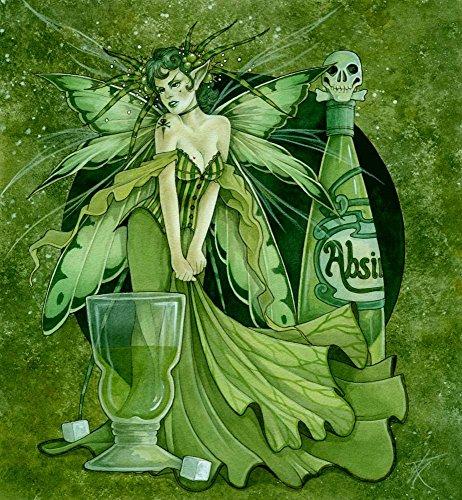 (Absinth Fairy by Linda Ravenscroft Art Print, 9 x 10 inches)