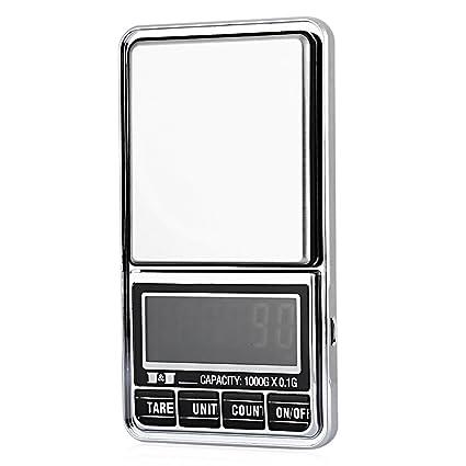 TOOGOO 1000/0.1g Bascula de joyas de bolsillo electronica digital 10 miligramos micro-