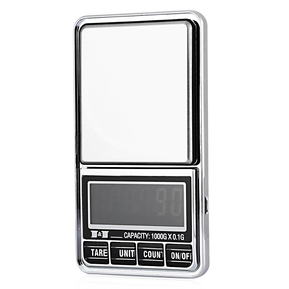 TOOGOO 1000g 0.01 DIGITAL ELECTRONIC POCKET JEWELLERY SCALES 10 milligram Micro-gm With Micro-charging interface