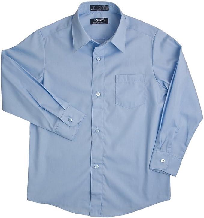 French Toast Boys Long Sleeve Classic Dress Shirt Standard /& Husky
