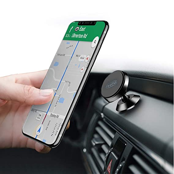 77ff5f3db Ryzillo Magnetic Car Phone Holder: Swivel Grip 360 Degree Rotation Magnetic  Dashboard Cell Phone Holder