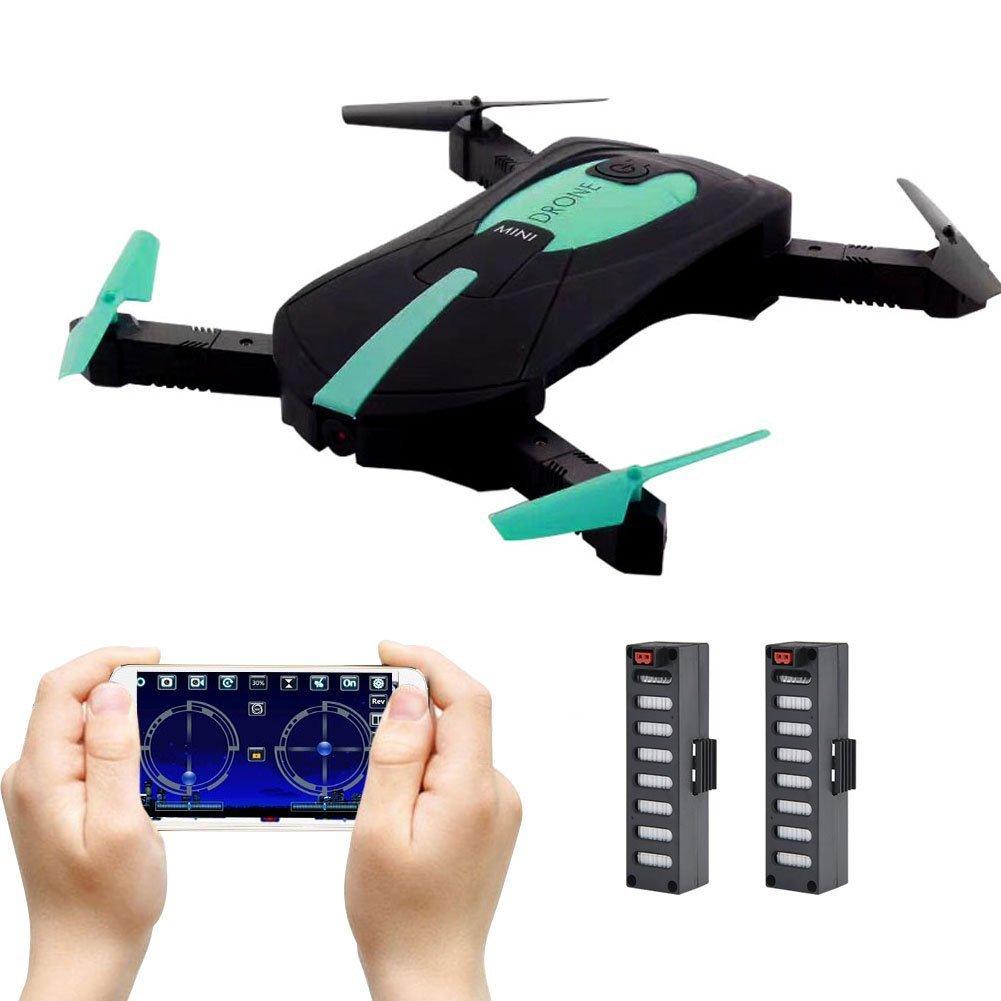 Ionlyou JY018 Faltbare Drohne Mini, Selfie Drohne mit Kamera Live Übertragung WiFi FPV Handy APP-Steuerung G-Sensor Steuerung automatische Schwebe 3D Flip Stunt Headless Modus für alle Stufen-Piloten
