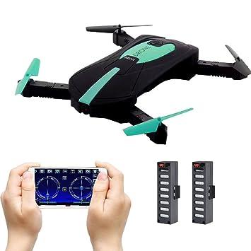 JY018 Mini Drone Plegable, Drone Selfie con Cámara Transmisión en App Control de WiFi FPV