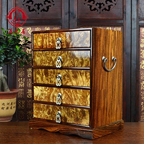 (CTH Collectibles Deluxe Wooden Jewelry Organizer Box Storage Cabinet Chest Armoire Case)