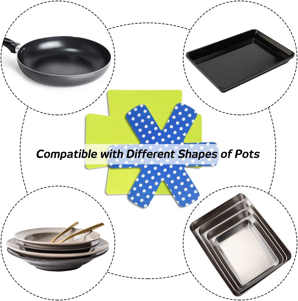 Bakeware Protectors Pan Stacking Protectors//Dish Scratch Protector//Pan Separator Pads to Protect Square and Rectangular Cookware Set of 9 findTop 3 Different Sizes and Styles