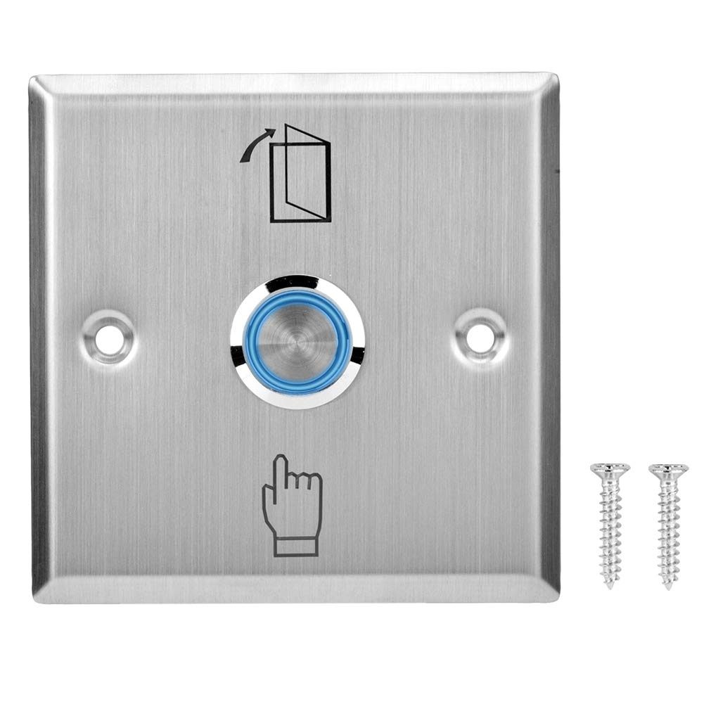 10x Door Switch Stainless Steel Slim Exit Push Release Button for Access Control