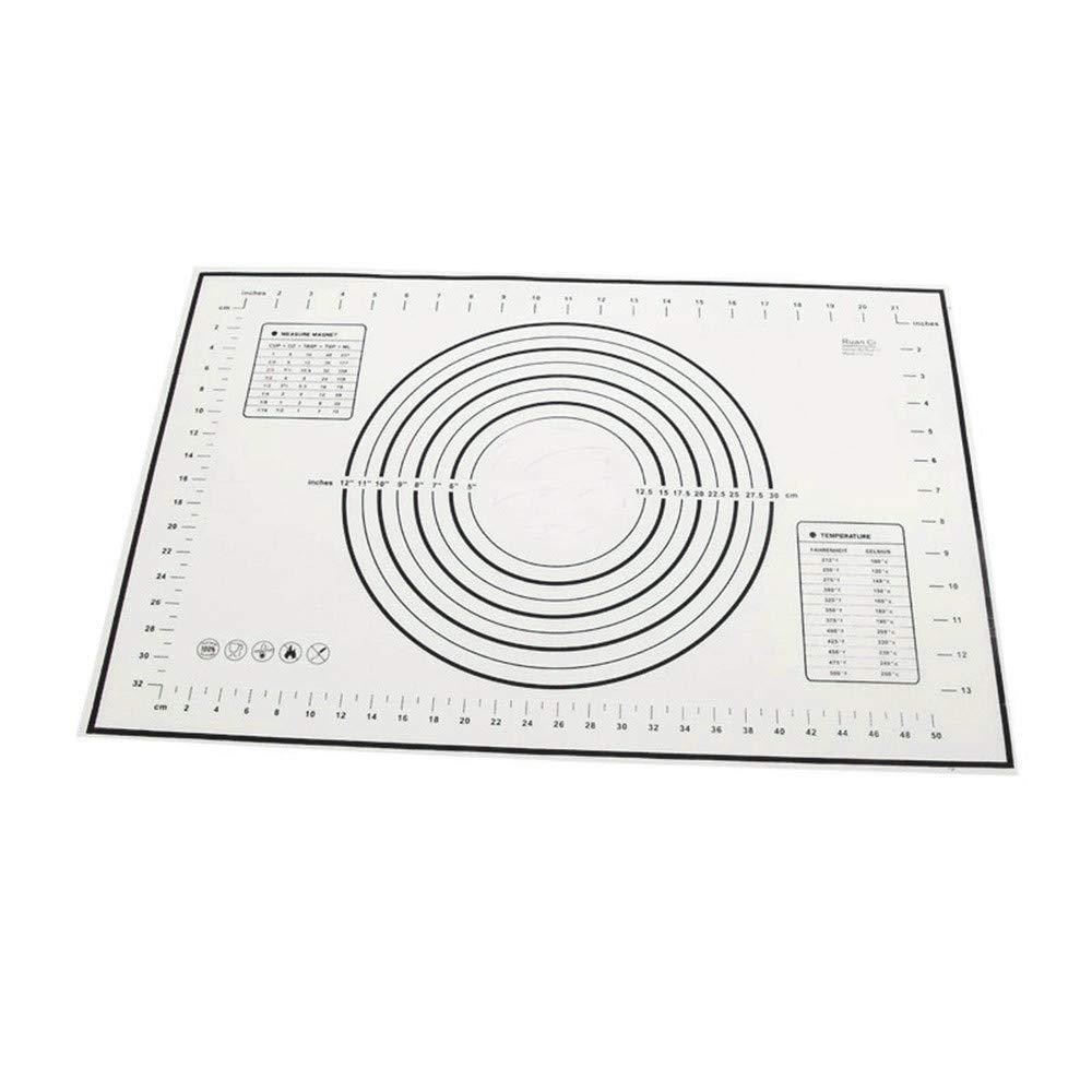 Longay Hot Fiberglass Silicone Dough Rolling Baking Mat Pastry Clay Pad Sheet Liner FC (Black)