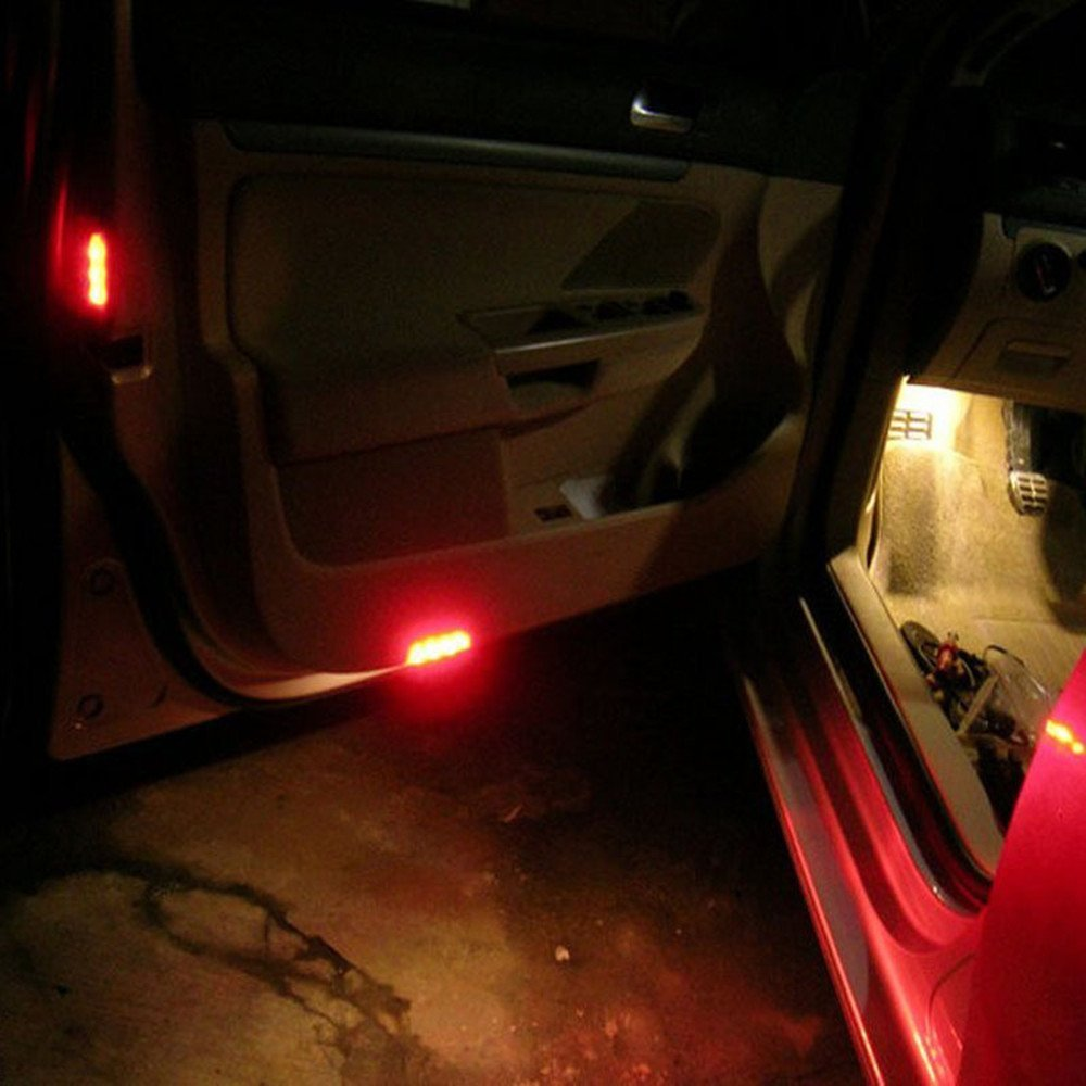 rojo 1156/BA9S 6/VDC 5050/SMD 5/LED Car Dashboard Bombillas 1895/T4/W 1445/6253/color paquete de 4