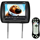 Pyle  Headrest DVD Player Video Monitor 7-Inch Wide Screen With , USB /SD Readers, Remote Control (Black) (PL73DBK)