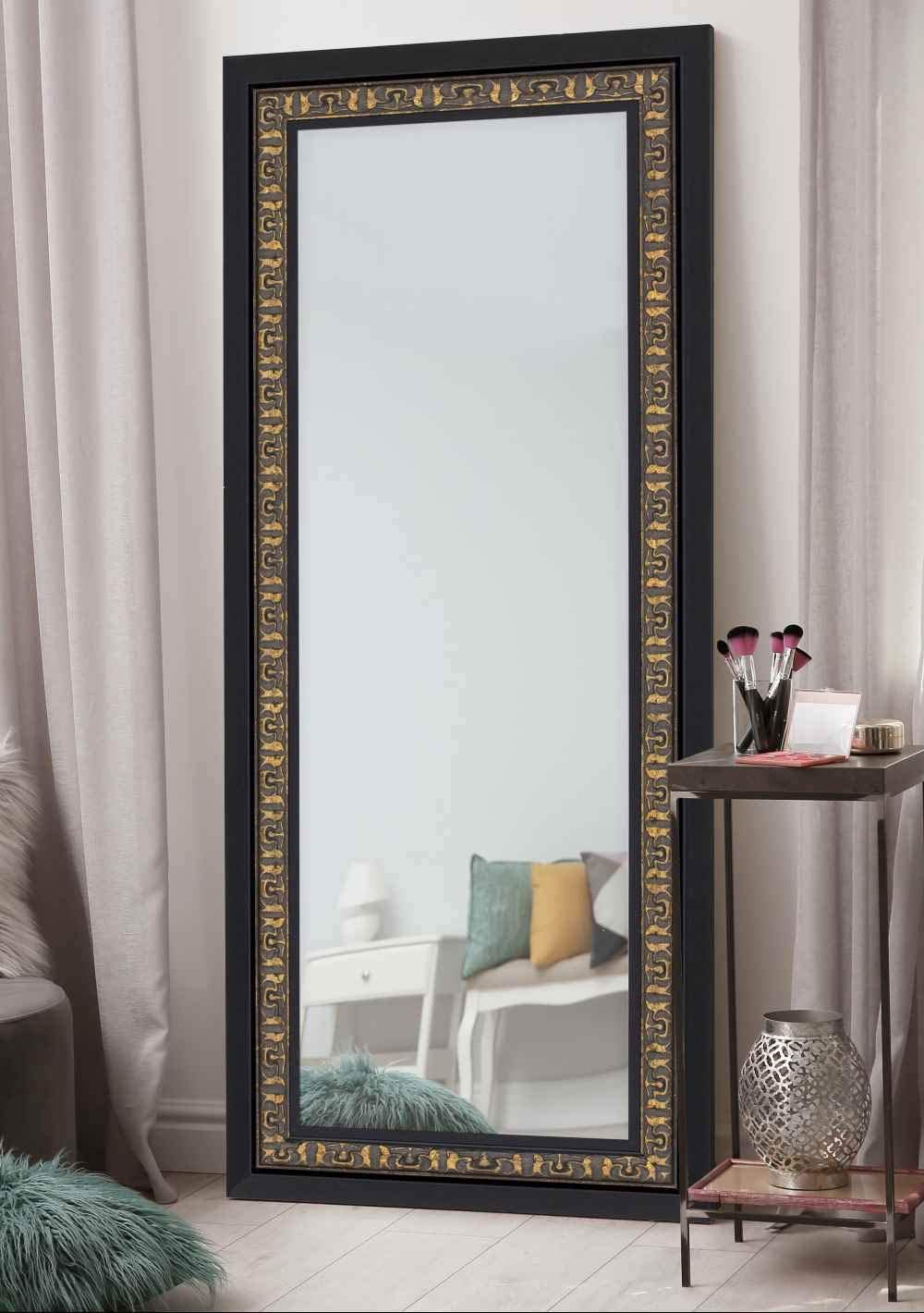 Hitchcock Butterfield Mumbai Traditional Black Framed Wall Mirror