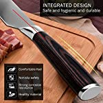 Chef Knife, Koncle 8 Inches Japanese High Carbon Stainless Steel Kitchen Knife with Sharp Blade, Ergonomic Handle, Pro Chef's Knife for Cutting, Chopping, Slicing, Carving, Mincing, Gift Box 13 Please carefully note our brand [Koncle] & our Amazon store name [Istyle Shop], any other stores selling our products are not authorized and are counterfeit with quality problems, we are not responsible! [Sharp stainless steel blade] Made out of 7CR17MOV stainless steel, which has high rust resistance. Chef knife also use of 16-18% chrome in the blade's metal composition, this can maintain a good brightness. The blade's razor sharp edge will allow you to cut your food effortlessly for a long time due to its excellent edge retention. [Multipurpose cooking knife] Versatile chef's knife is designed for chopping, mincing, slicing, and dicing with razor sharp, laser-tested, tapered knife edge is ground to form an exacting angle, to hold a sharp edge longer and ensure maximum cutting performance and durability.