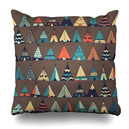 Amazon.com: DIYCow Throw Pillow Covers Vintage Aloha Teepee ...