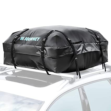 3708721260 Amazon.com  Rabbitgoo Rooftop Cargo Carrier Car Roof Cargo Bag Easy to  Install Straps - Waterproof Soft Shell Luggage Rack Bag on Car Topper 15  Cubic Feet  ...