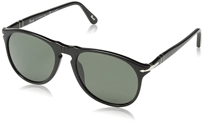 b299a57d34 Persol Unisex PO9649S - Size 52 - Polarized Black Crystal Green Polarized