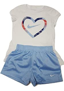 a5bebec67 Amazon.com: Nike Infant Girls Just Do It T-Shirt and Shorts Set ...