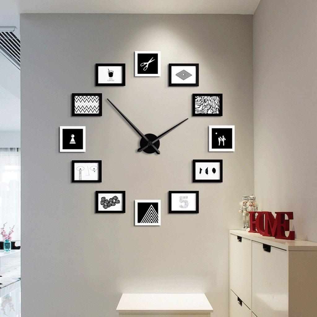 リビングルームの壁時計クリエイティブパーソナリティ時計のベッドルームテーブルミュートクォーツ時計の壁時計ファッション装飾的な壁時計26インチ (色 : A) B07FHYGBFKA