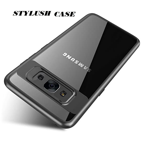 cheaper ddf10 cf271 STYLUSH Clear Back Complete Lens Protector Case Cover for Samsung Galaxy J7  / J7 Nxt - Black AUTO Focus (Black)
