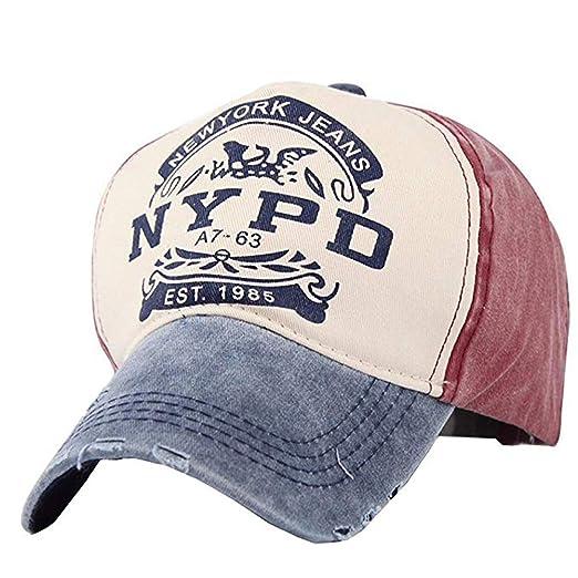 Xuzirui Adjustable Baseball Cap Fitted Hat Casual Cap Gorras 5 Panel Hip Hop Snapback Hats Wash Cap for Men Women Unisex (Grey&Blue) at Amazon Mens ...