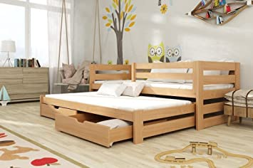kinderbett massivholz 90x200 kinderbett jugendbett massivholz kiefernholz massiv kiefer 90x200. Black Bedroom Furniture Sets. Home Design Ideas