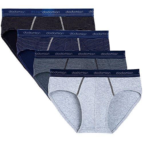 DO DO MIAN Cotton Mens Underwear Briefs Striped 4 Pack (M(Waist 29
