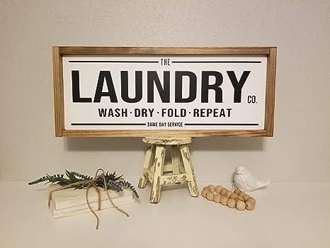 Eyrrme Cartel de lavandería con Texto en inglés «The Laundry ...