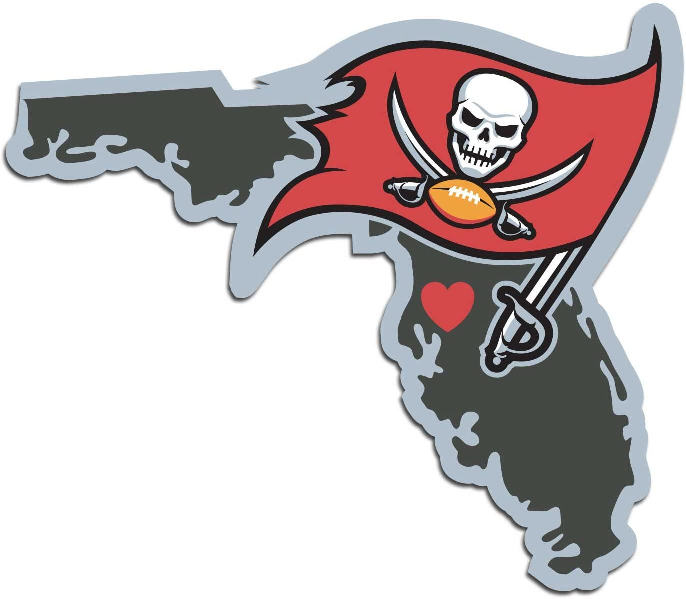 NFL Siskiyou Sports Fan Shop Tampa Bay Buccaneers Family Decal Set Large One Size Team Color