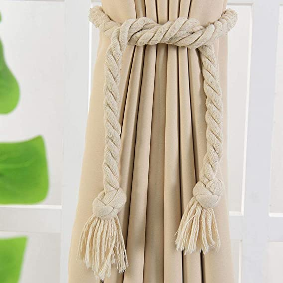 yanana 1 par color sš®lido cortina hebillas lazo Cuerda Cortina Abrazadera Holder ventana cenefa del Holdback: Amazon.es: Hogar