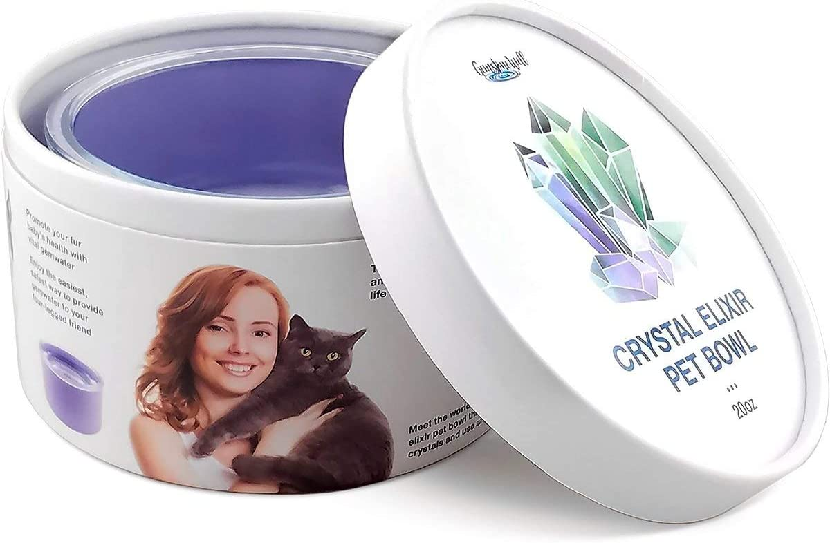 Behavior And Well-Being Of The Animals In Your Care Improve Overall Health Happiness Pet Water Bowl With Crystals Ease Your Dog Or Cats Anxiety And Stress With Gem Water Infused Elixirs