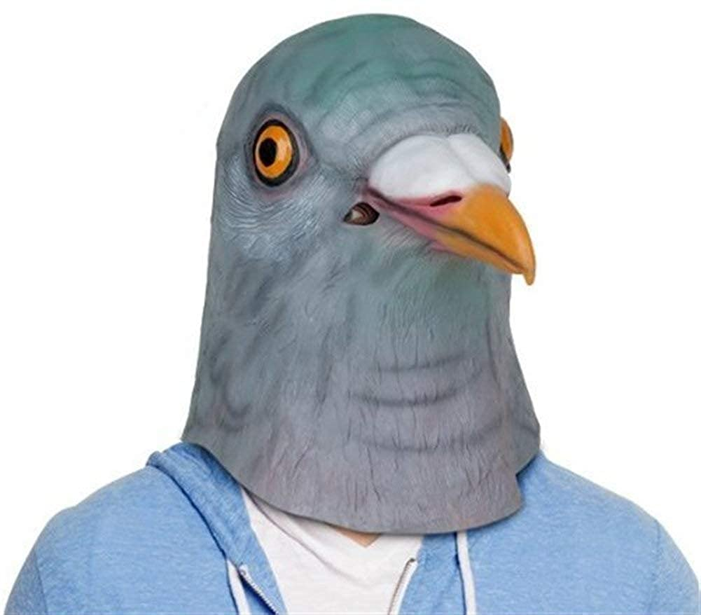 Epex Deluxe Novelty Fancy Dress Halloween Creepy Pigeon Bird Head Mask