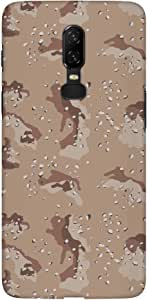 Stylizedd OnePlus 6 Slim Snap Basic Case Cover Matte Finish - Desert Storm Camo