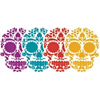 By Mexico Skull Calaveras Coasters for Drinks Day of The Dead - Silicon Coasters for Parties and Parties - Mexican Coasters with The Image of Traditional Mexican Skull