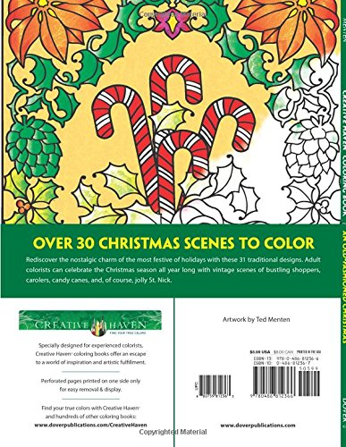 Amazon Creative Haven An Old Fashioned Christmas Coloring Book Adult 9780486812366 Ted Menten Books