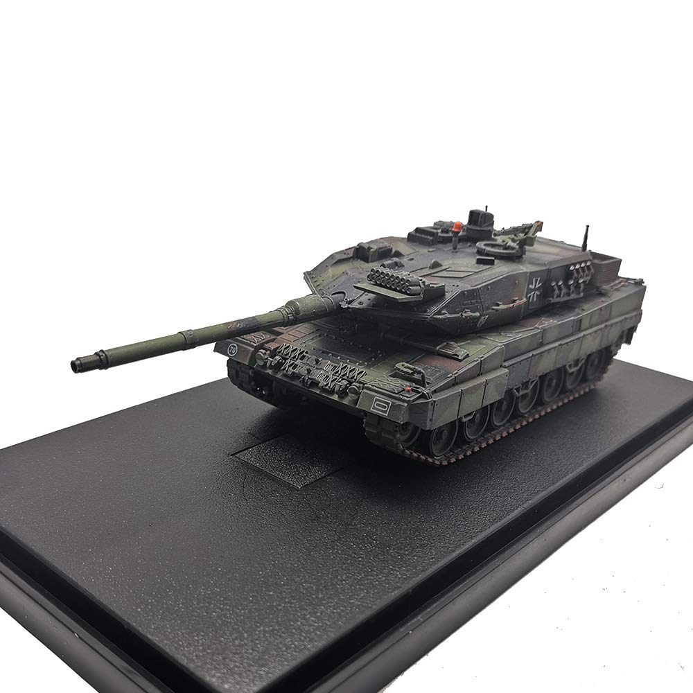 Diecast Military Tank Models 1:72 Scale Leopard 2 A6 Tank Zinc Alloy Static Model Die cast Manual Assembly Army Tank Model for Collection Gift(Pn: 12173PA)