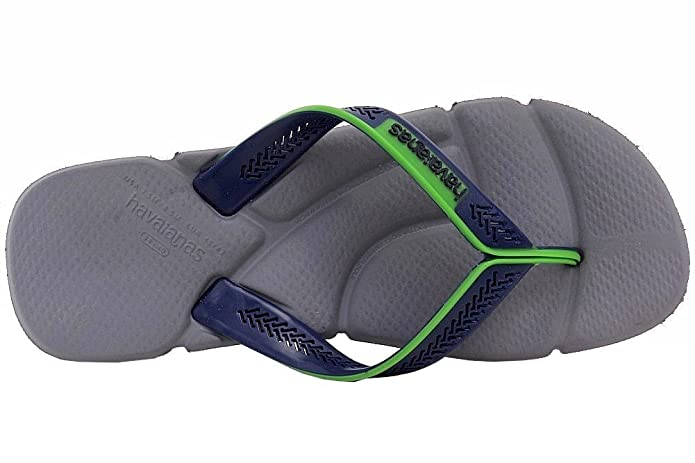 Amazon.com | Havaianas Mens Power Fashion Grey/Navy Flip Flops Sandals Shoes Sz: 7.5/8.5 | Sandals