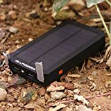 ALLPOWERS 12000mAh Dual USB Solar Battery Charger Panel for Cell Phone iphone Samsung ipad and More