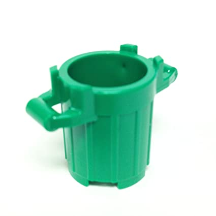 Amazon.com: Lego Parts: Trash Can Container with 4 Cover Holder ...