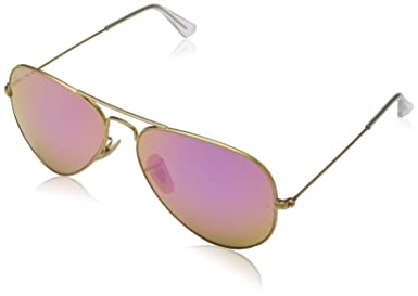 6b020885c5fd3 Rayban Aviator with Gold Mirror Lense and Gold Frame Unisex Adult Sunglasses   Amazon.co.uk  Clothing
