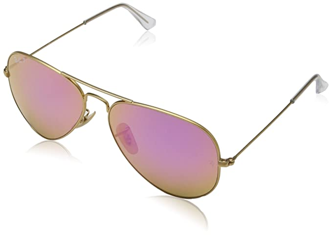 177b3fa8652 Rayban Aviator with Gold Mirror Lense and Gold Frame Unisex Adult Sunglasses   Amazon.co.uk  Clothing