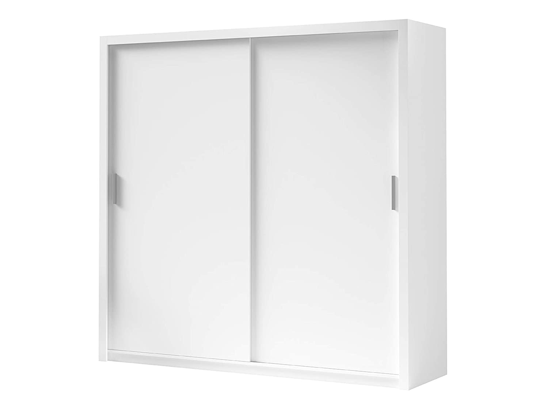 Kleiderschrank Bianco Elegante und Modernes Schwebetürenschrank, Schiebetür, Schlafzimmerschrank, Schlafzimmer, Jugendzimmer (Weiß, Modell  220   ohne Spiegel)