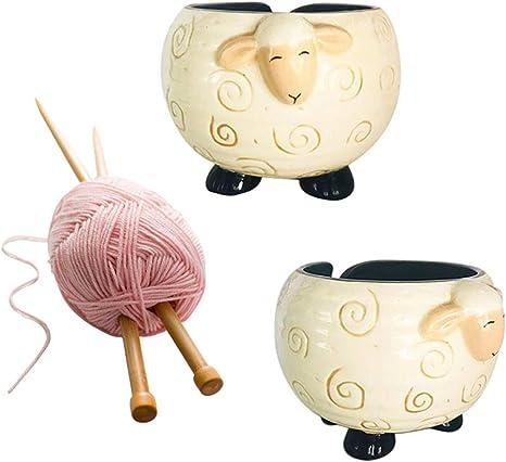 Ceramic Yarn Bowl for Knitting and Crochet