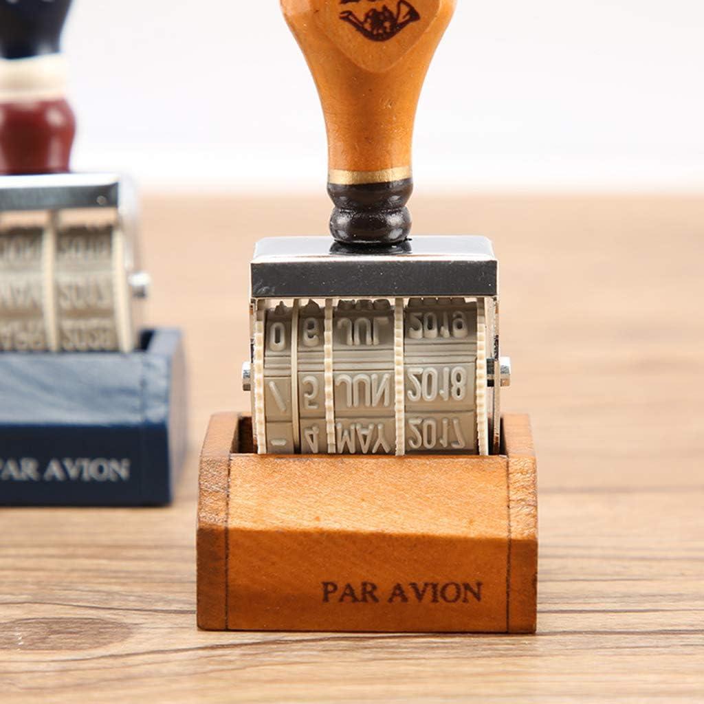 D/écoration Manyo Tampon Dateur avec Manipuler Classique Roue Roulante Tampon pour Activit/és Cr/éatives Scrapbooking