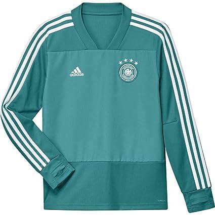 Adidas Selección Alemana de Fútbol Camiseta de Entrenamiento, Unisex niños, Verde (Eqtver/