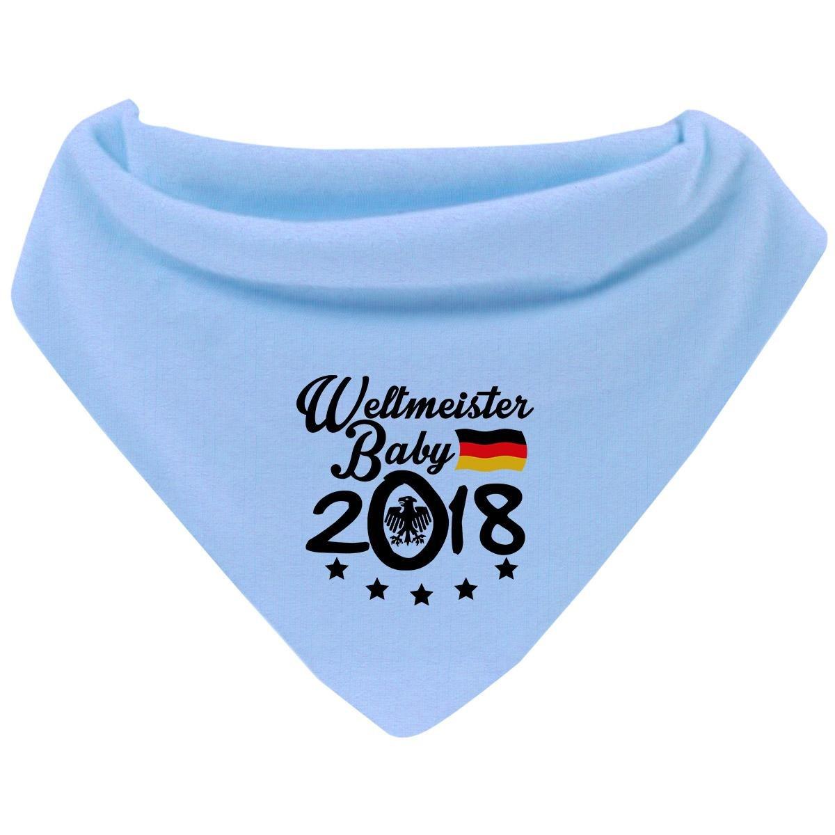 Mikalino Baby Halstuch Bandana Weltmeister Baby 2018 mit Klettverschluss passend zur WM in Russland Farbe:cream