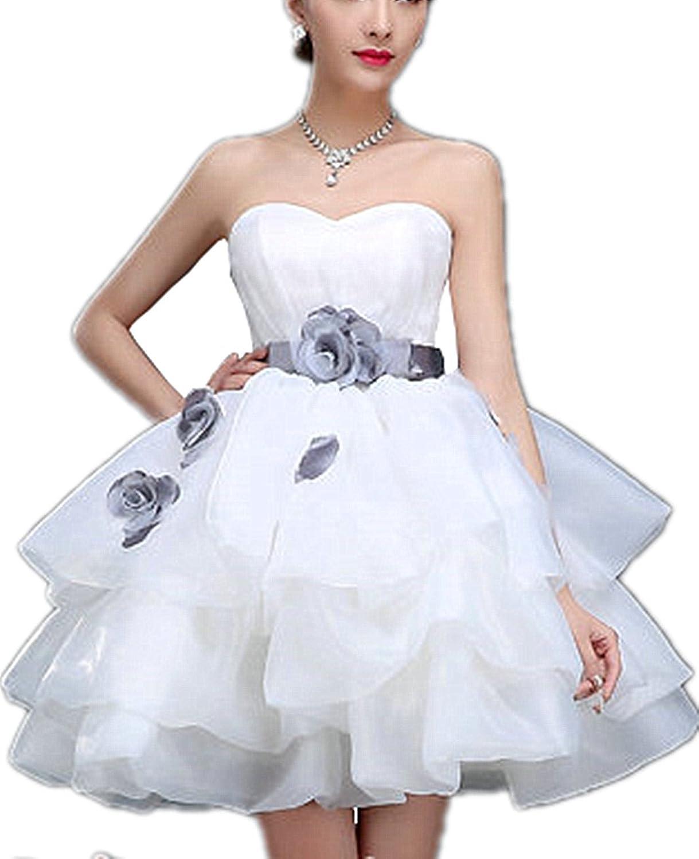 Great Bright Women's A-Line Sleeveless Dress white Wei? 10