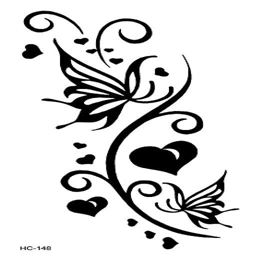 adgkitb 5piezas clásico Tatuaje Negro Gato pájaro Tatuaje Falso ...