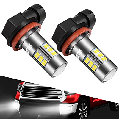 SEALIGHT H11/H8/H16 LED Fog Light Bulbs, 6000K Xenon White, 27 SMD Chips, 360-degree Illumination, Non-polarity, 2-pack: Automotive